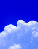 Blue sky. And white clouds Royalty Free Stock Images