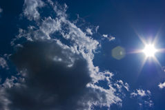 Blue Sky. And white clouds Stock Images