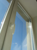 Blue sky. Window Royalty Free Stock Images