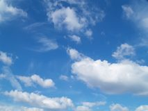 Blue sky. And clouds Stock Photo