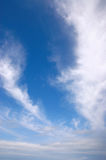 Blue sky. With fluffy clouds Stock Photos