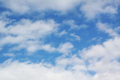Blue sky. A photo of a beautiful sky and clouds Stock Photography