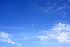 Blue Sky. Photography of a clear, blue sky Stock Image