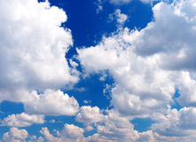 Blue sky. With greater white cloud Stock Images