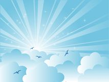 Blue sky. Abstract blue sky with clouds Royalty Free Stock Photography