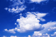 Blue Sky. The  Blue Sky with Clouds Royalty Free Stock Images