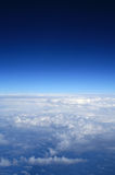 Blue sky. Photo of blue sky above the clouds stock photo
