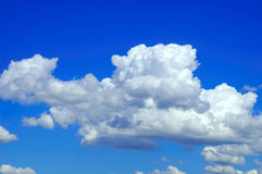 Blue Sky. With Clouds Stock Image