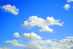 Blue sky. Clouds and blue sky - interesting background Royalty Free Stock Image