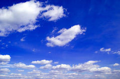 The blue sky. The beautiful white clouds on background blue sky Stock Photo