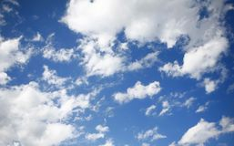 Blue Sky. And various cloud formations stock photos