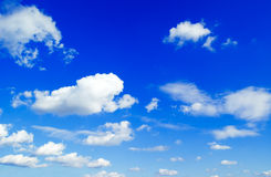 The blue sky. The blue sky and white clouds Stock Photography