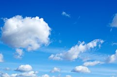 Blue sky. Royalty Free Stock Photo