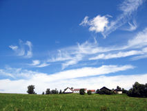 Blue sky. In Bavaria royalty free stock photography