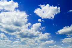 The blue sky. The beautiful blue sky and white clouds Royalty Free Stock Photography