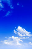 The blue sky. The blue sky and beautiful white clouds Royalty Free Stock Photo