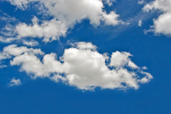 Blue sky. White cloud  with blue sky background in beautiful day Stock Image