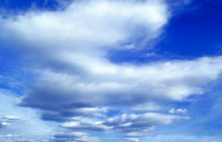 The blue sky. Royalty Free Stock Photos