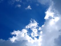 Blue sky. And lots of clouds Royalty Free Stock Photography
