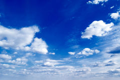 The blue sky. stock images