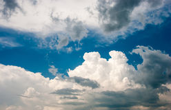 Blue sky. And various cloud formations Stock Images