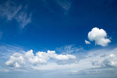 Blue sky. Background with white clouds Stock Images