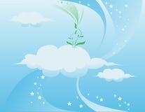Blue sky vector illustration