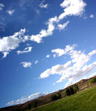 Blue sky. Skies overhead stock photography
