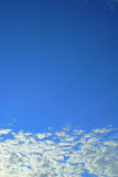 Blue sky. View of nice deep blue color sky with white and grey clouds Stock Photos