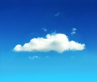Blue sky. White clouds on beautiful bright blue horizon. Cloudscape Stock Photography