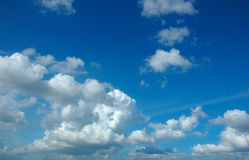 Blue sky. The view of the blue sky Royalty Free Stock Photos