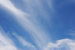 Blue sky. And clouds Stock Photos