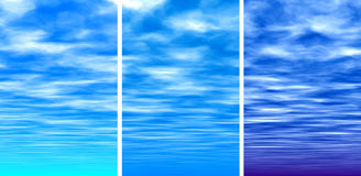 Blue sky. Background Stock Photography