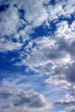 Blue sky. With many clouds stock image