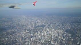 ฺBlue Sky, above Bangkok stock video footage