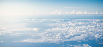 blue sky from above Stock Photos