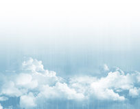 Blue sky above clouds stock illustration