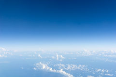 Blue sky above clouds Stock Photography