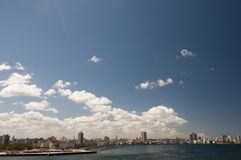 Blue sky above  cuban Malecon, Havana, Cuba Stock Photography