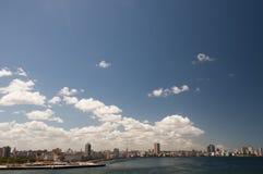 Blue sky above  cuban Malecon, Havana, Cuba. Blue sky above skyline of Havana, Cuba Stock Photography