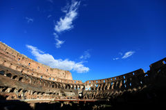Blue sky above Rome Colosseum Royalty Free Stock Photo