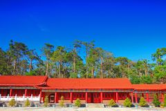 Blue sky above the Temple in Taiwan Stock Photo