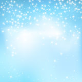 Blue sky abstract background with soft clouds and stars. Stock Photo