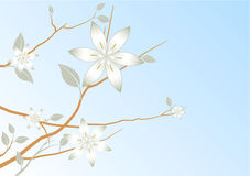 Blue Sky Abstract Floral Background Stock Image