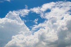 Blue sky. Abundance background cloud beauty Stock Photo
