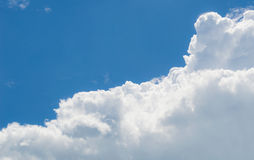Blue sky. Abundance background cloud beauty Royalty Free Stock Image