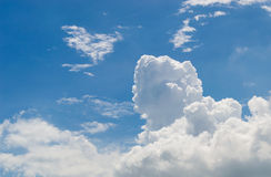Blue sky. Abundance background cloud beauty Royalty Free Stock Photography