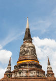 Blue sky adn tree view pagoda wat yai chai mong kon ayutthaya Stock Photo