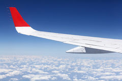 Blue sky from airplane Stock Images