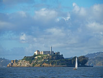 Blue Sky and Alcatraz Island in San Francisco Stock Images
